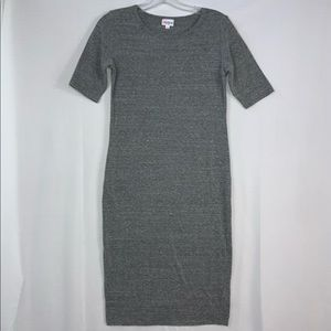 Lularoe Gray Julia Dress Size Small